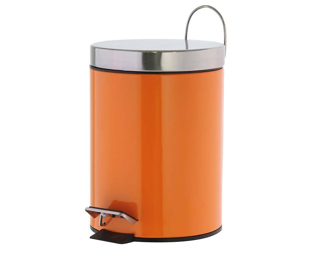 Cos de gunoi cu capac si pedala Verona Orange 3 L
