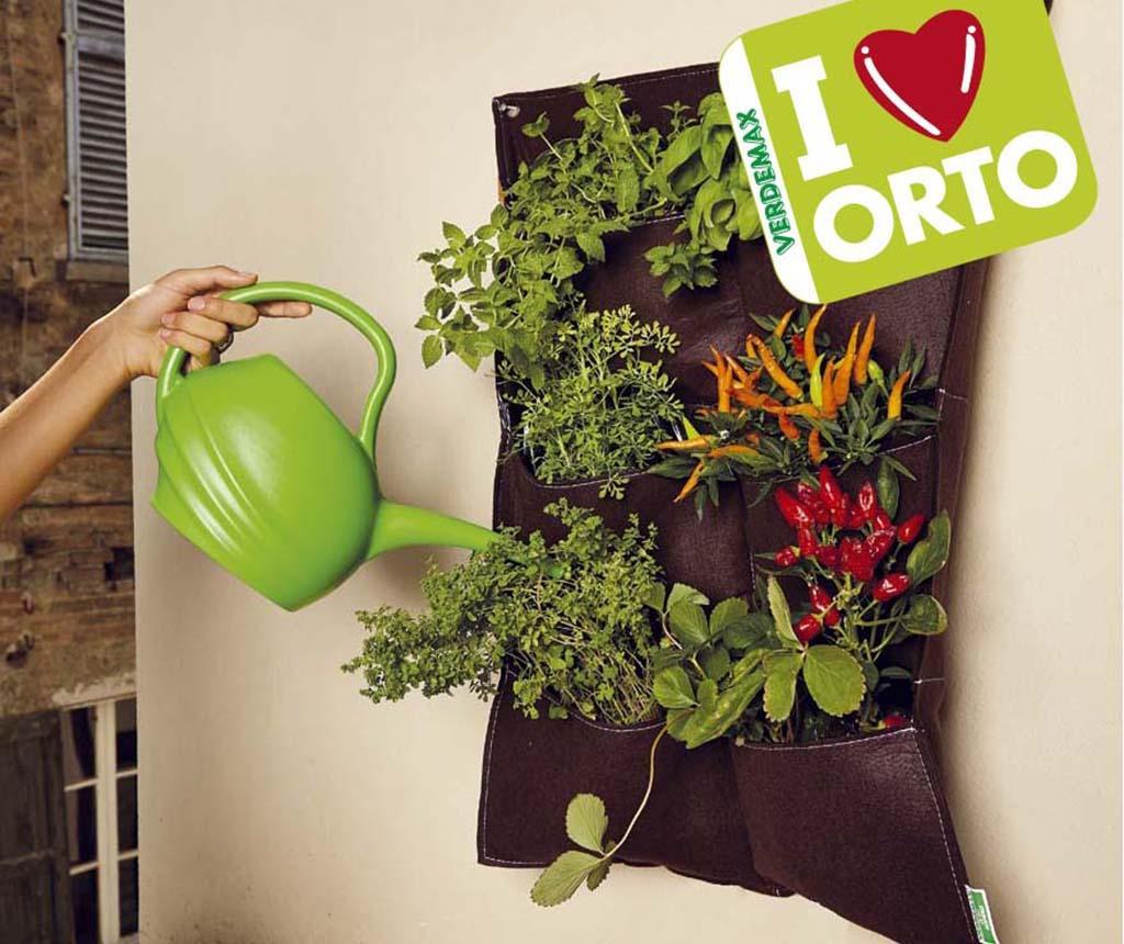 Orto Brown Fali Virágtartó 6 zsebbel