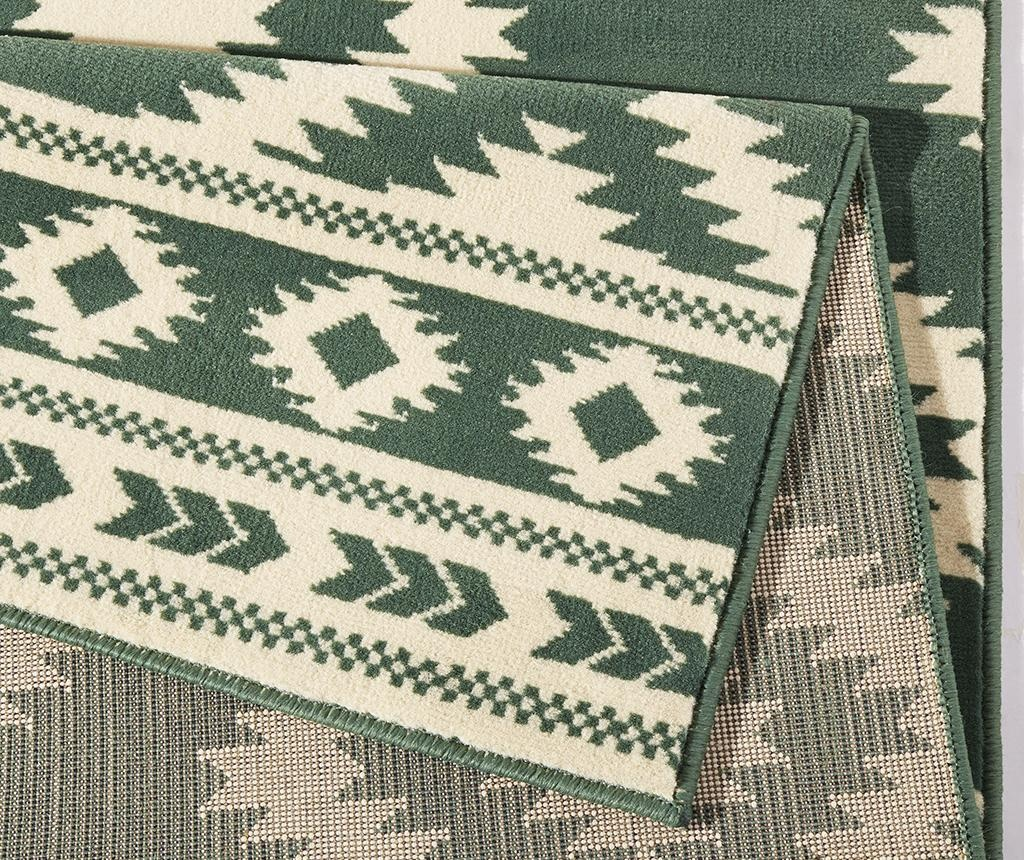 Preproga Ethno Green and Cream 80x150 cm