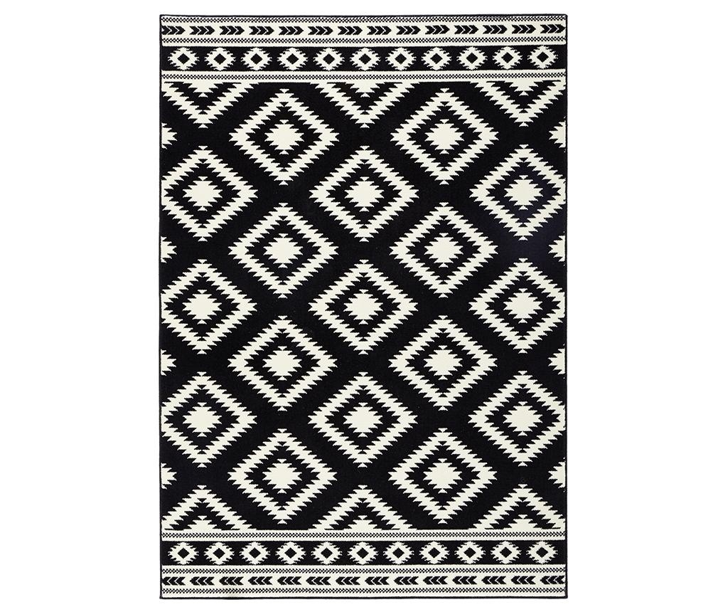Preproga Ethno Black and Cream 80x150 cm