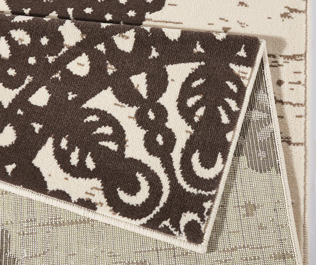 Preproga Lace Dark Brown and Cream 80x150 cm