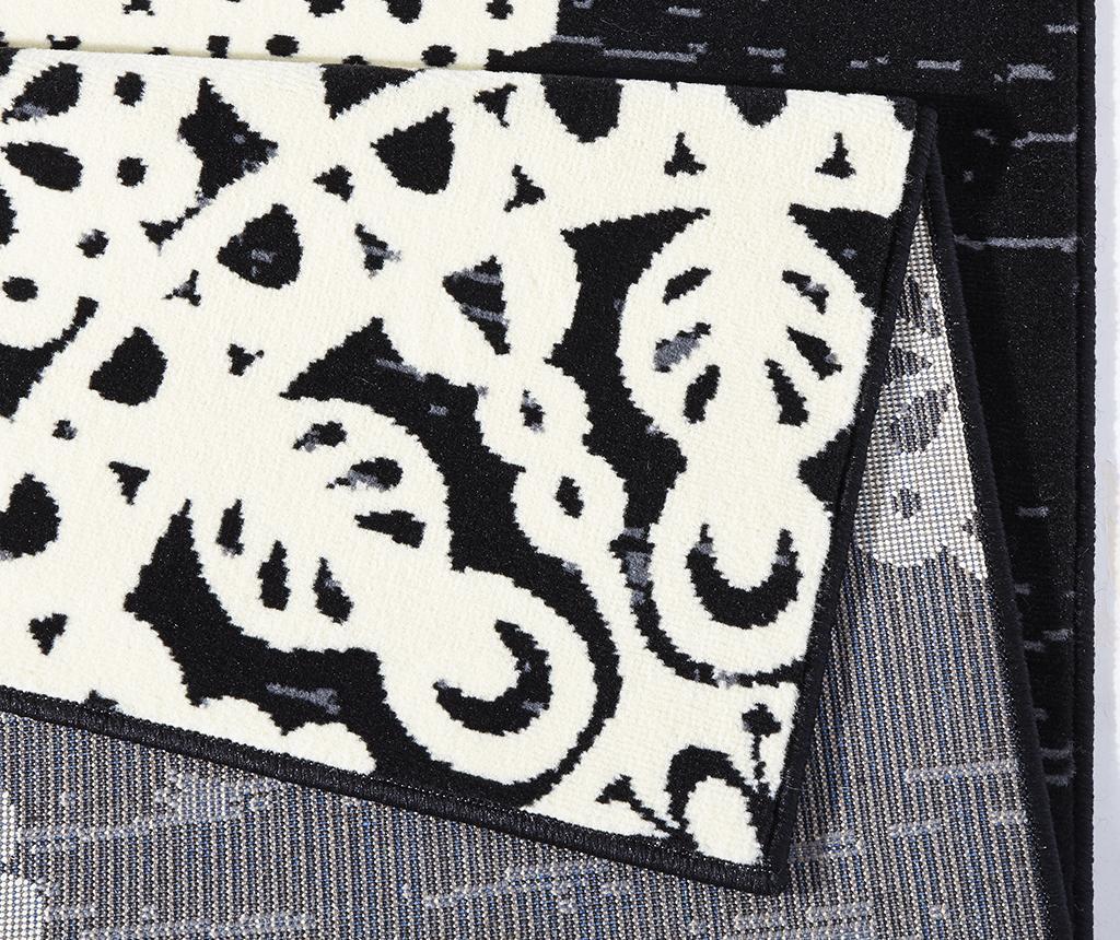 Preproga Lace Black and Cream 80x150 cm