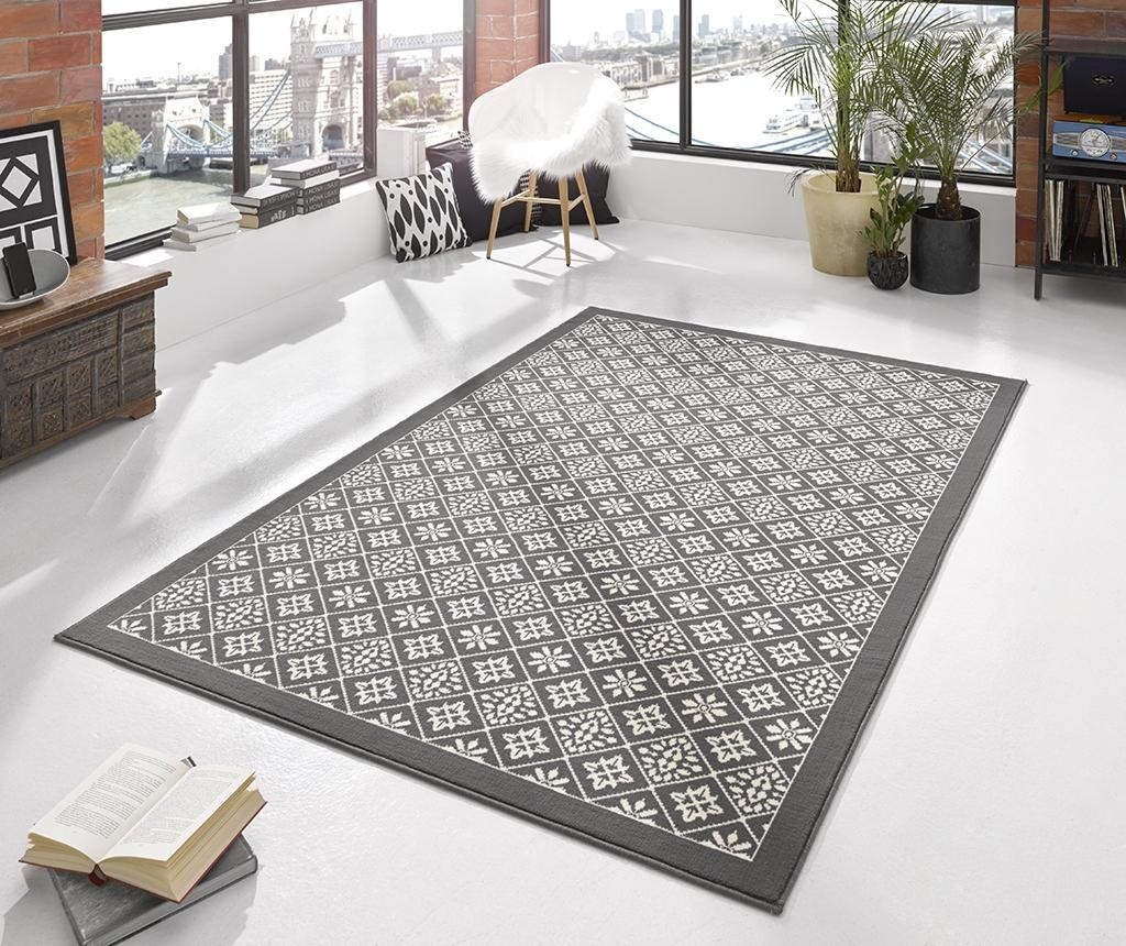 Preproga Tile Grey and Cream 160x230 cm