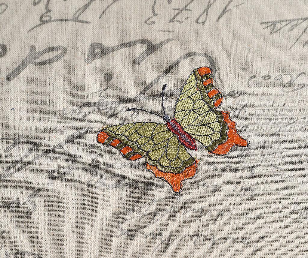 Namizni prt Ada Butteflies Beige 85x85 cm