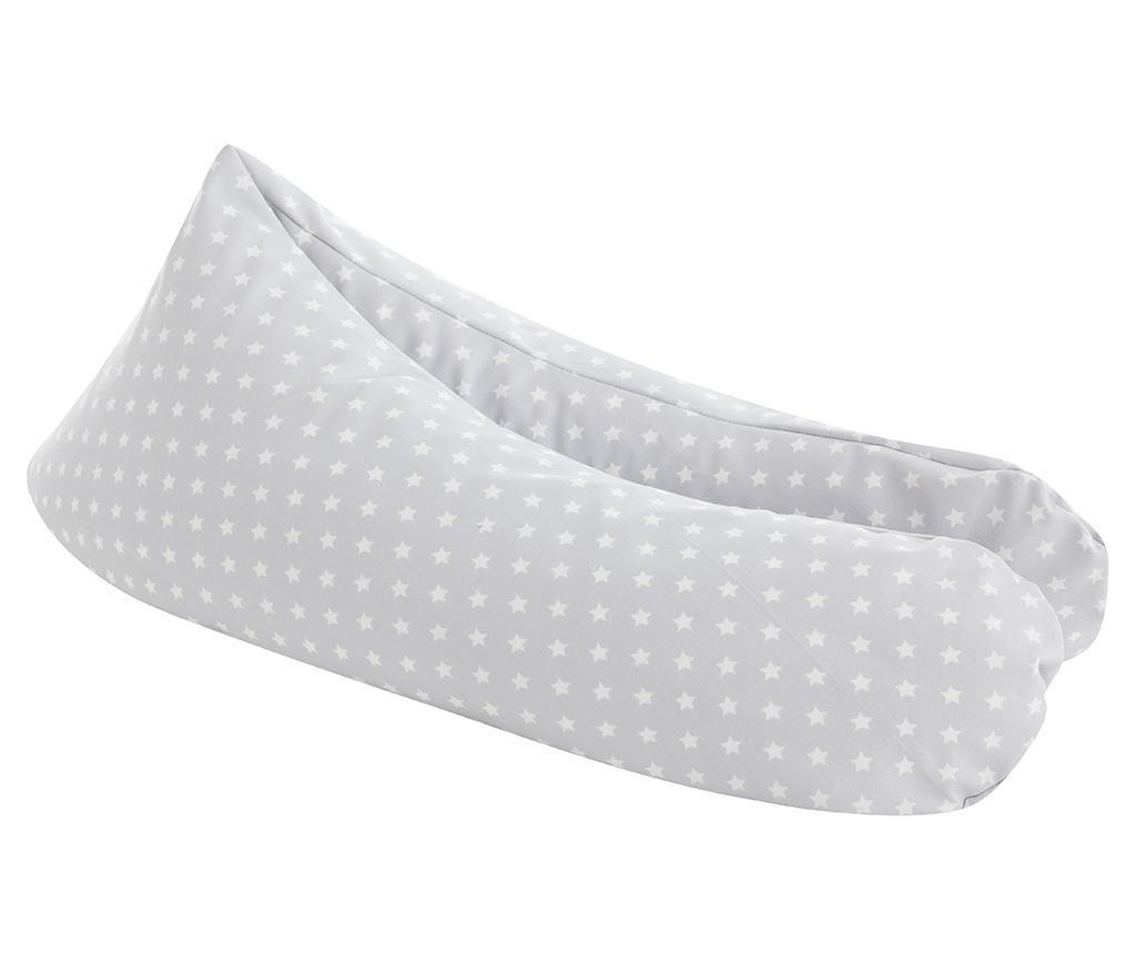 Poduszka do karmienia piersią Cloe Little Grey 25x145 cm