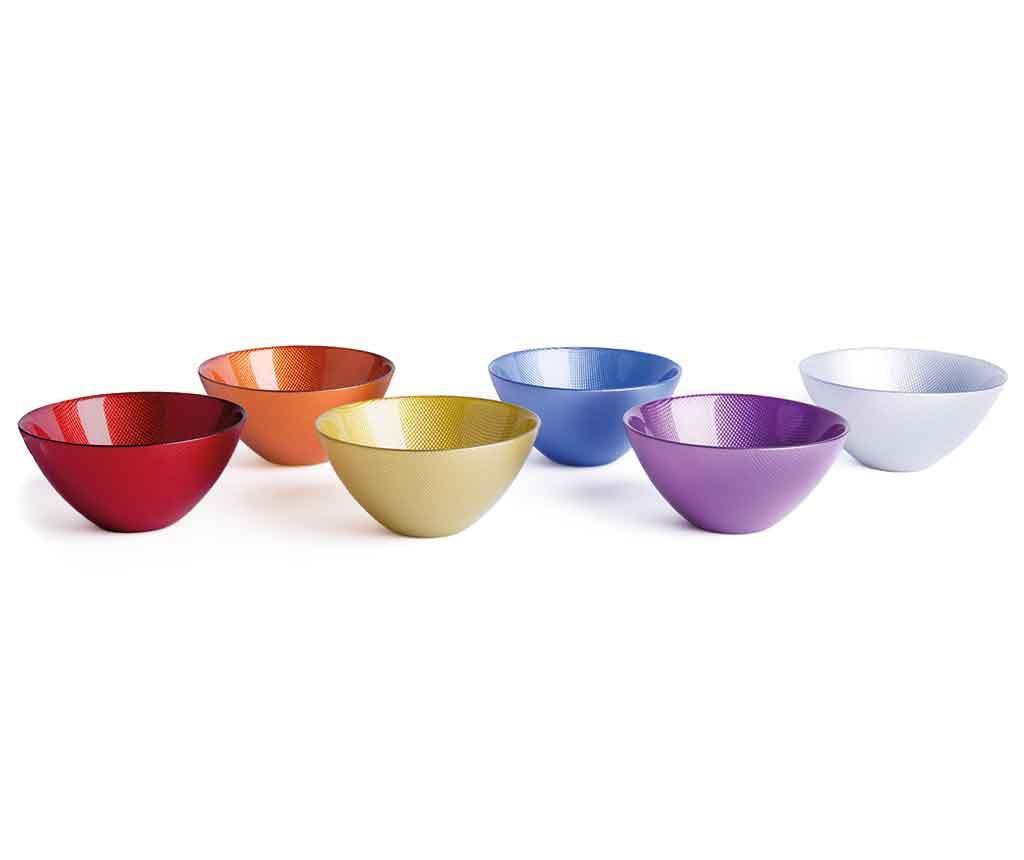 Set 6 zdjela Diamond Multicolor 500 ml