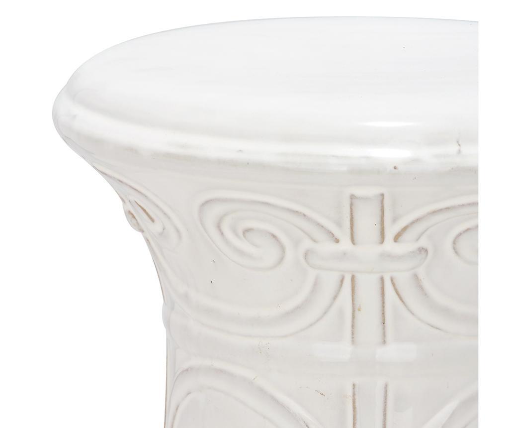Taburet decorativ Santorini White