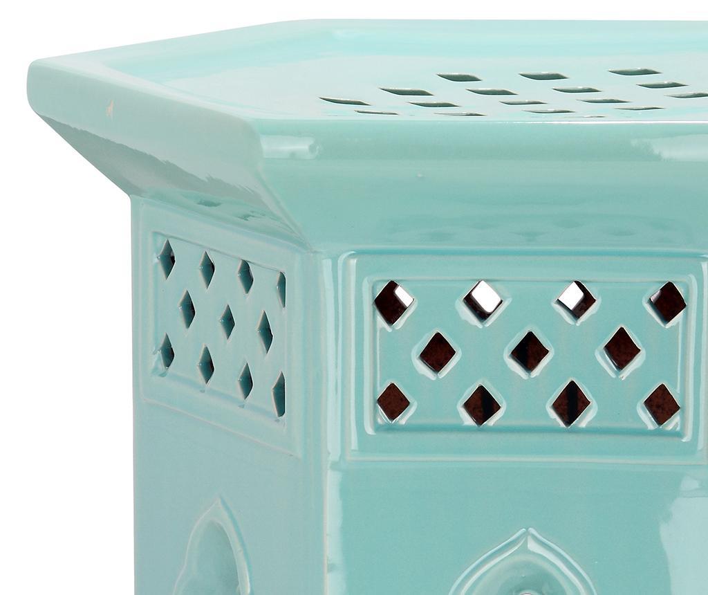 Taburet decorativ Malta Turquoise