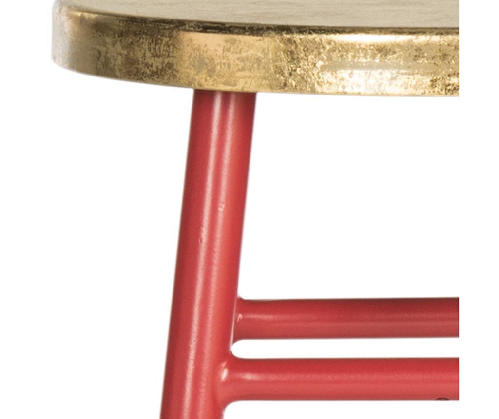 Scaun de bar Mirabelle Red Gold S