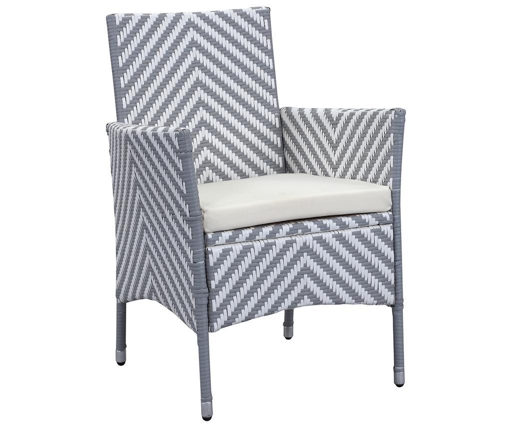 Комплект маса и 4 стола за екстериор Malaga Stripes Grey