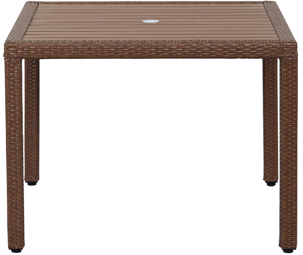 Set masa si 4 scaune pentru exterior Amalfi Brown