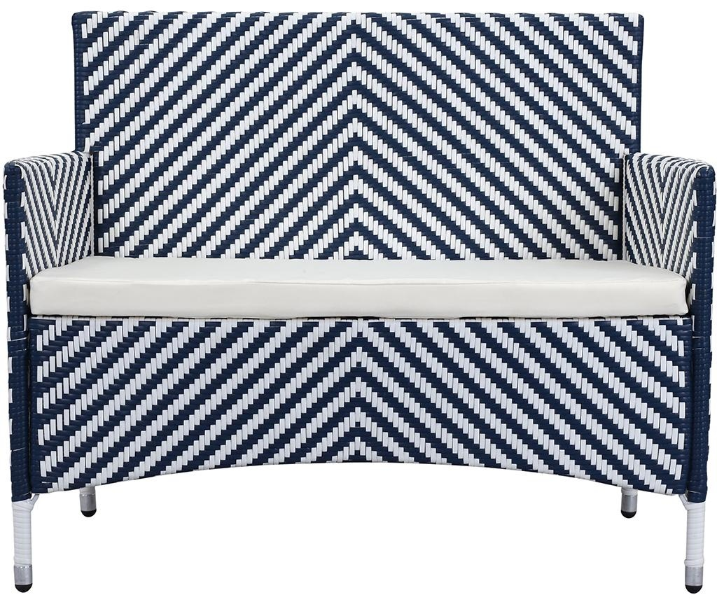 Sada nábytku do zahrady, 4 ks Venice Stripes Navy White