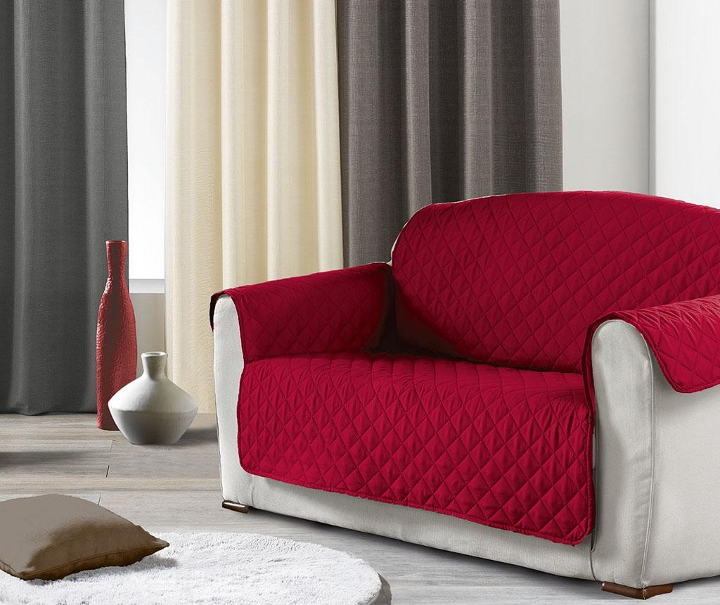 Husa matlasata pentru canapea Club Red 179x279 cm