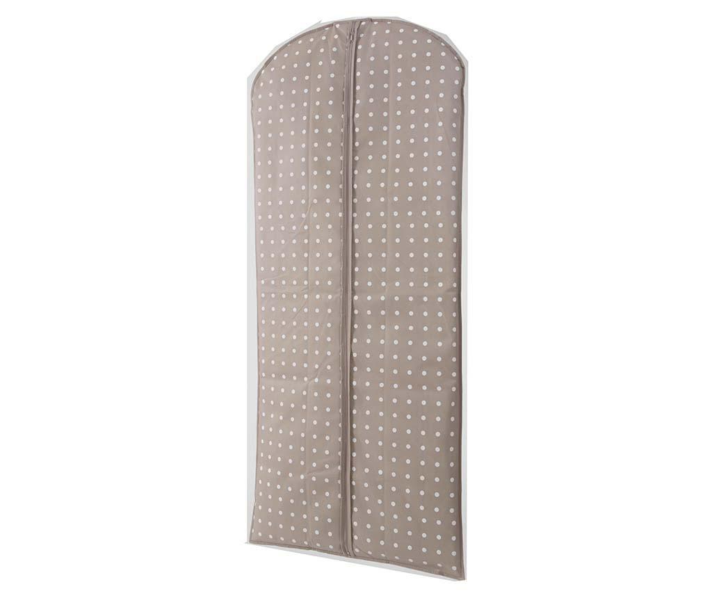 Husa pentru haine Spots Brown 60x137 cm