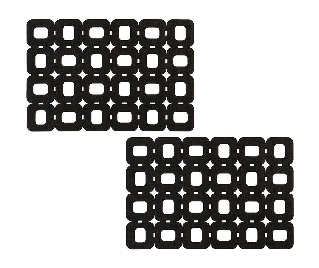 Set 2 podmetača Block Design 30x45 cm