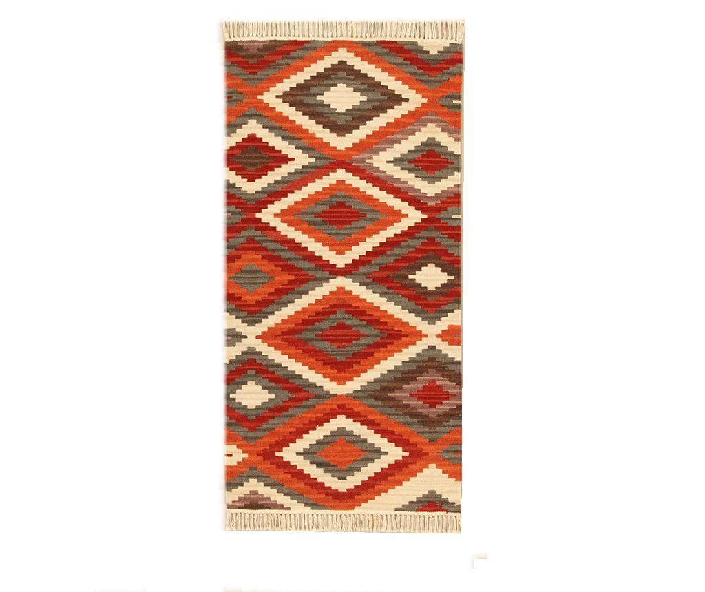 Preproga Kilim Zagros Red 60x120 cm