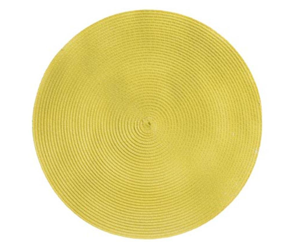 Suport farfurie Rond Yellow 36 cm