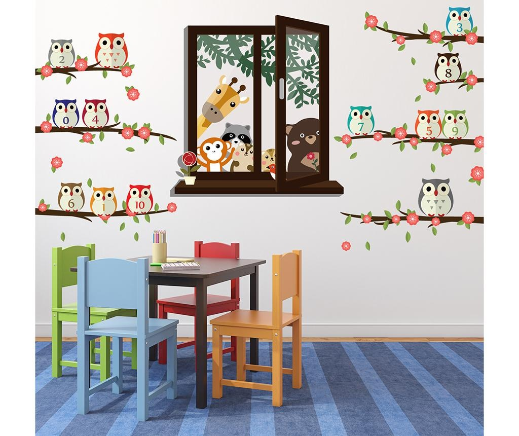 Sticker Animal Window View and Owl Nursery