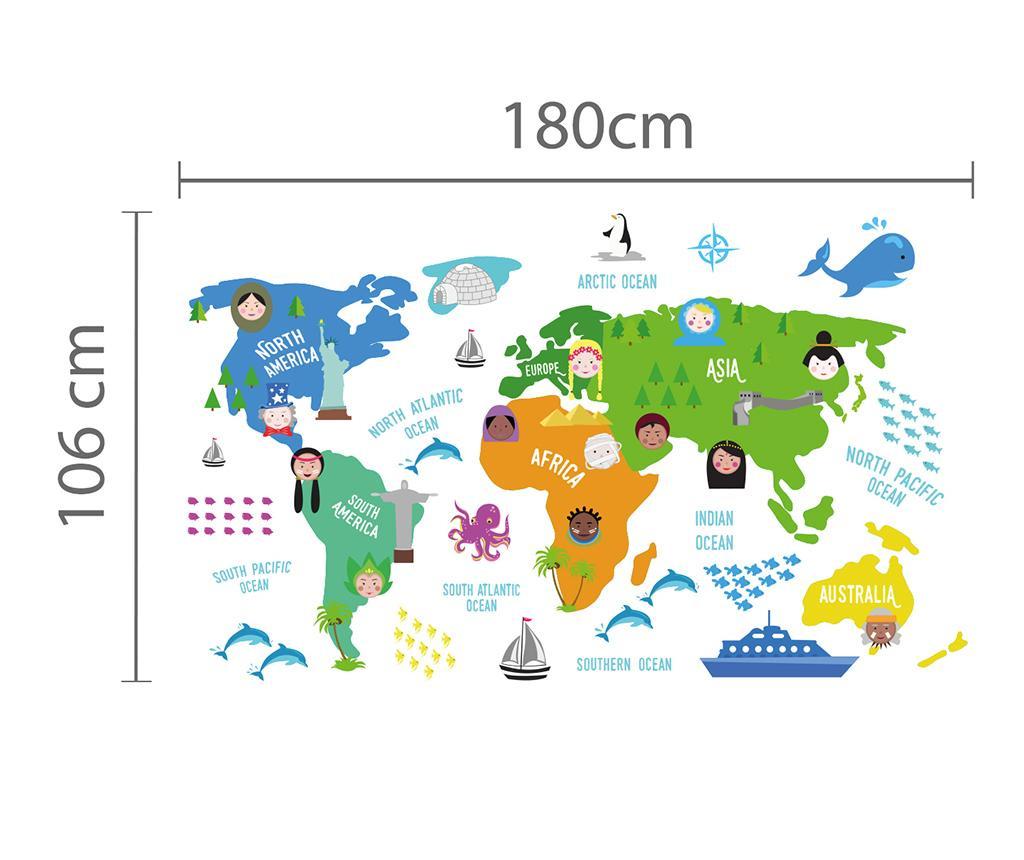 Naljepnica Word Map