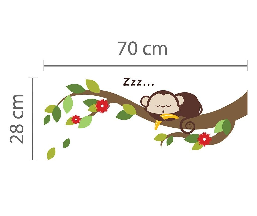 Sticker Sleeping Monkey on Branch