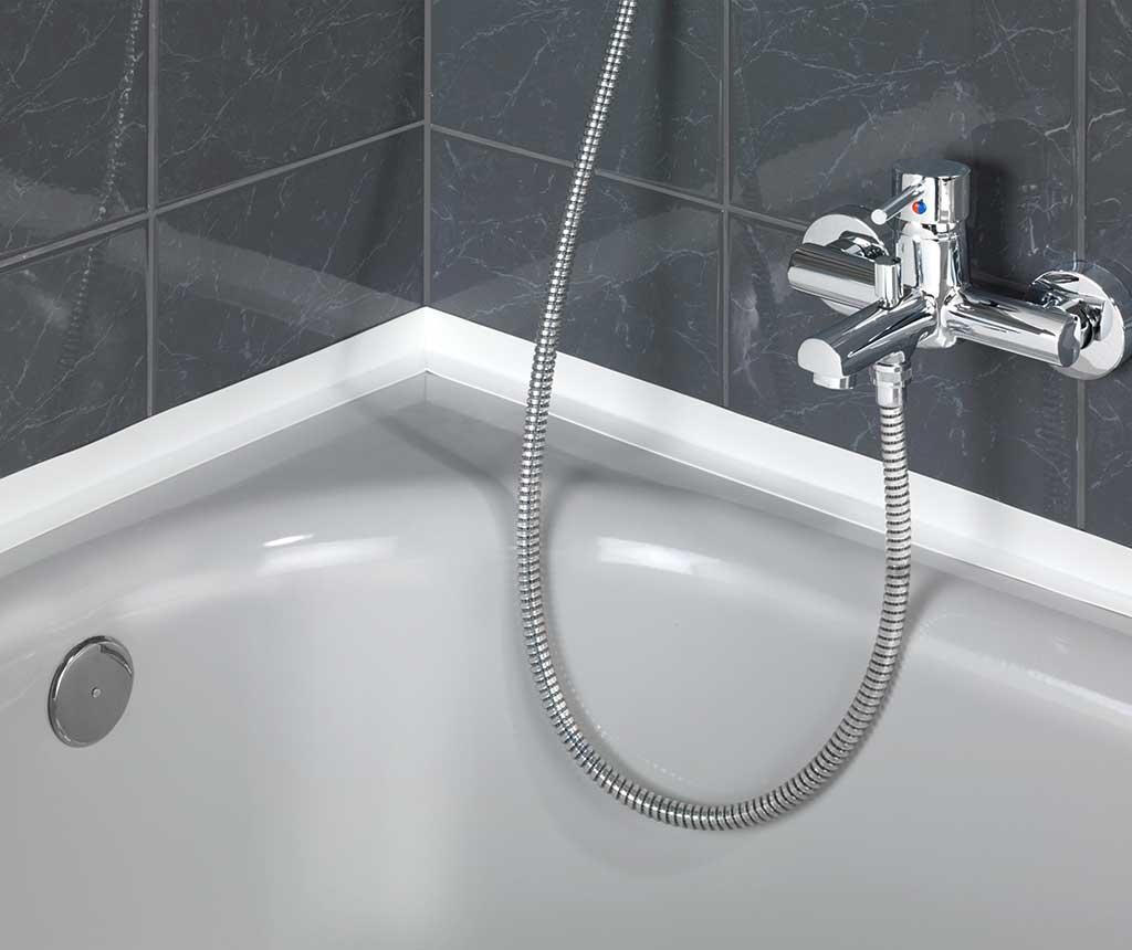 Ljepljiva traka za kupaonicu Simple White M