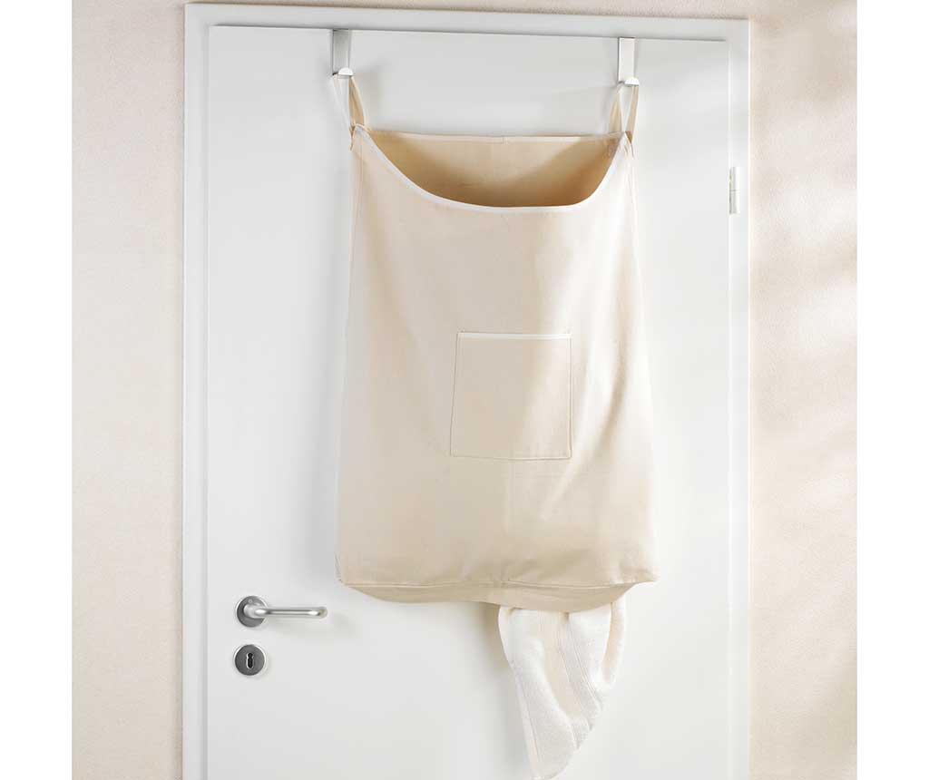 Zestaw 2 wieszaków z  torbą na pranie Canguro Beige