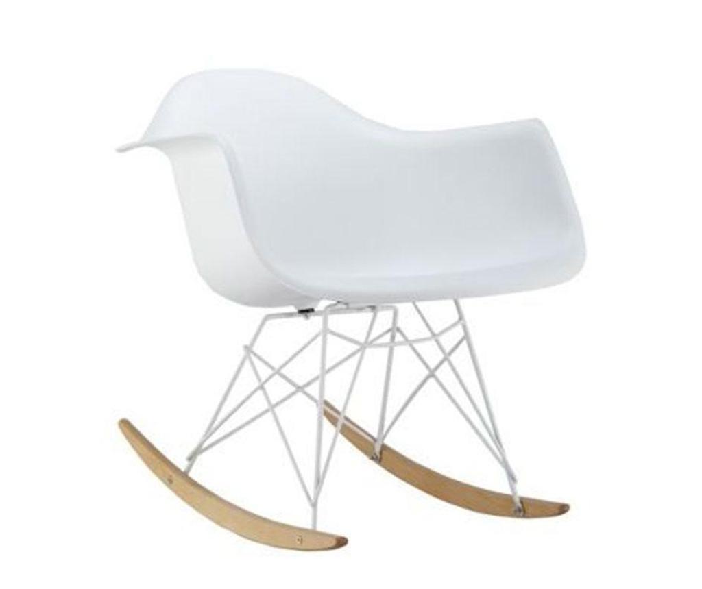 Gugalni stol Delight White