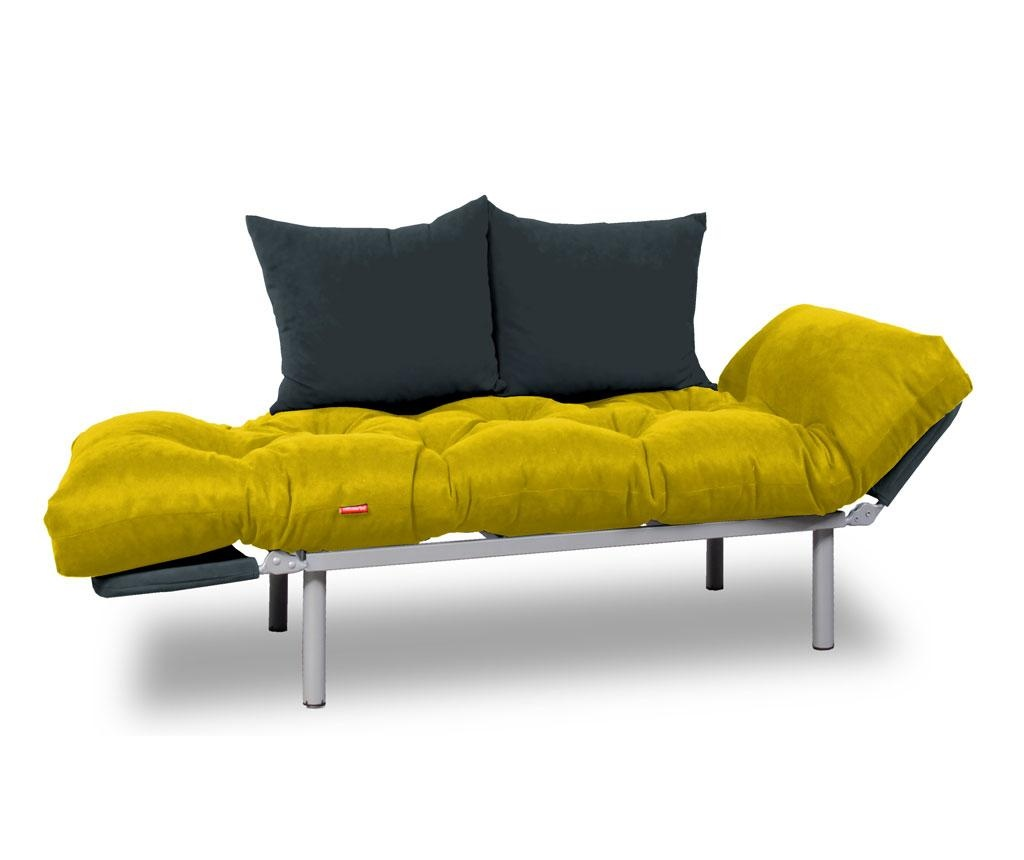Sofa extensibila Relax Yellow Smoked