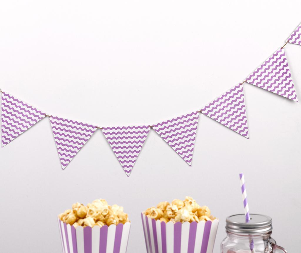 Girlanda Party Waves Purple
