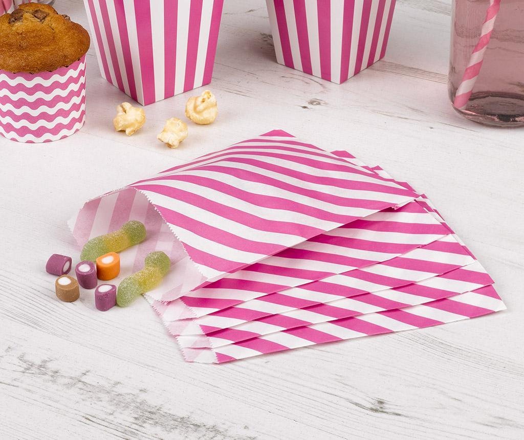 Set 25 kuvert za darila svatom Stripes Pink