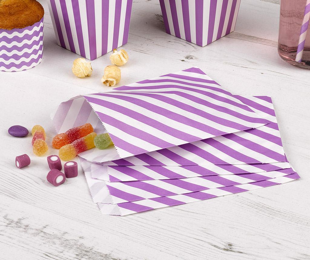 Set 25 kuvert za darila svatom Stripes Purple