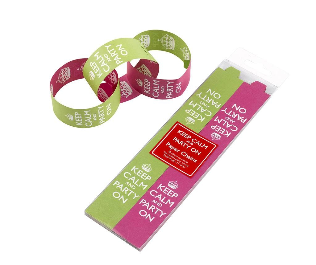 Set 50 lepilnih etiket Party On Pink & Lime