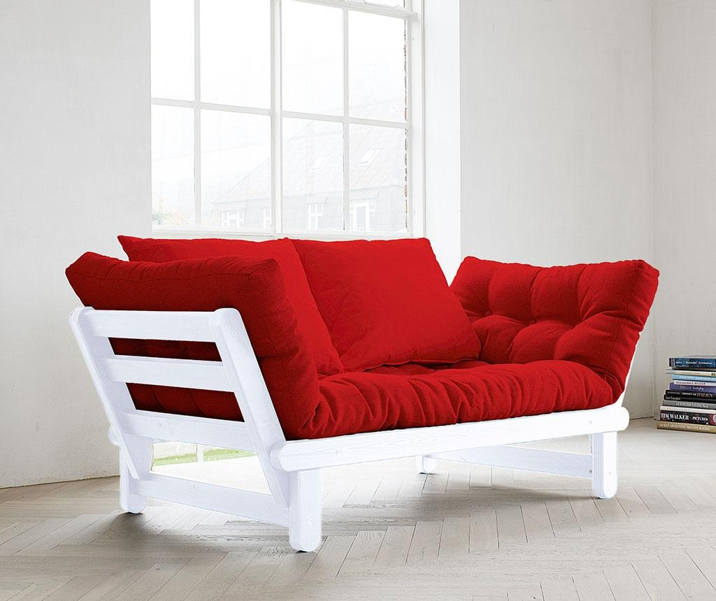 Sofa extensibila Beat White and Red