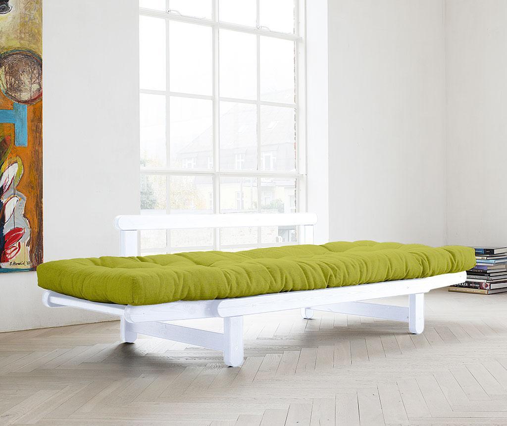 Sofa extensibila Beat White and Pistachio