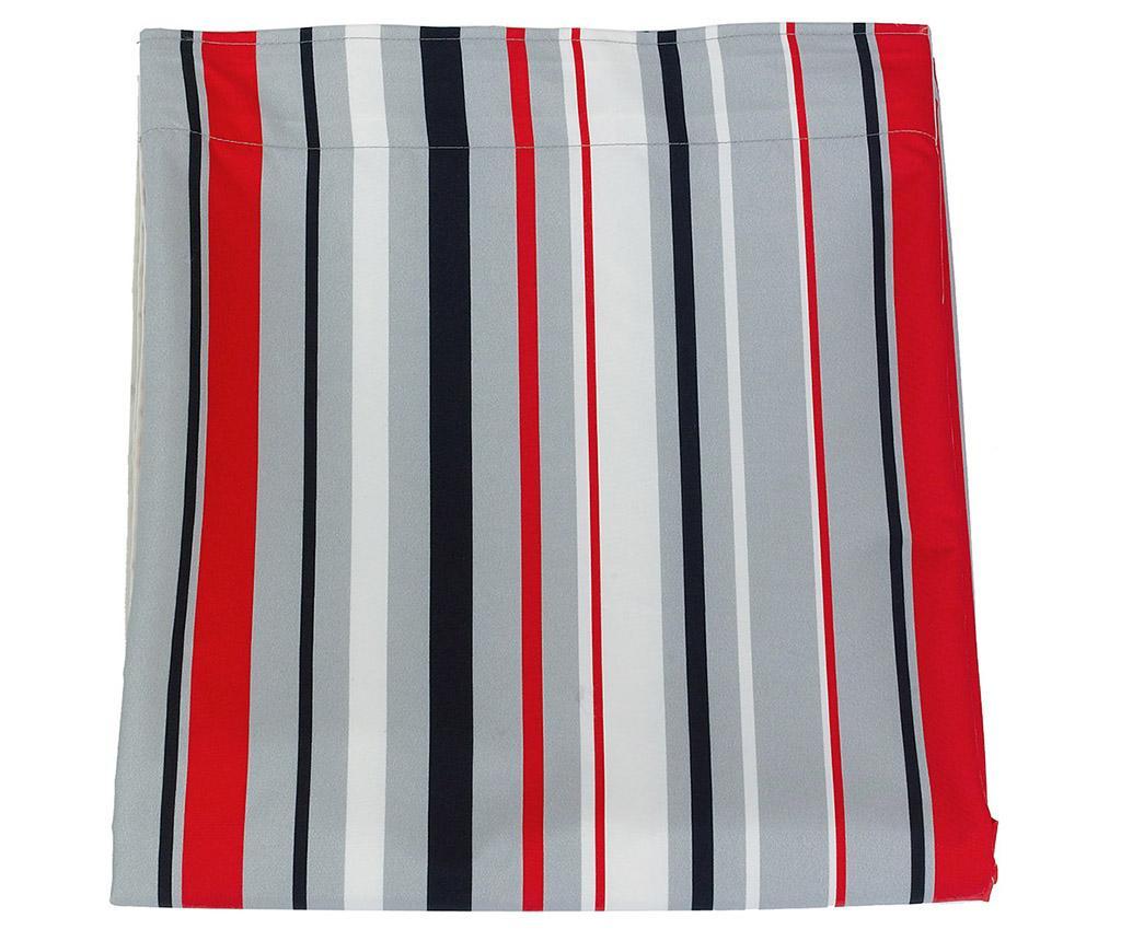 Zastor Stripes Red Grey 140x270 cm