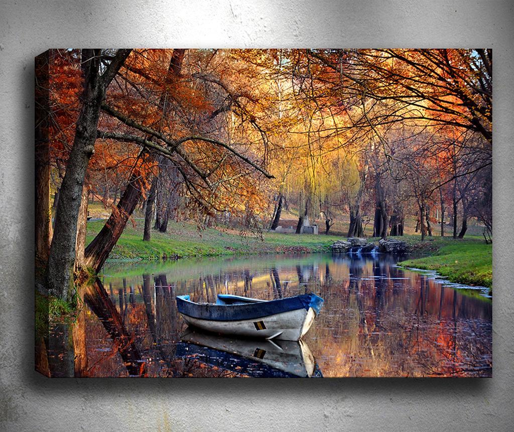 Картина  3D Boat Lake 50x70 см