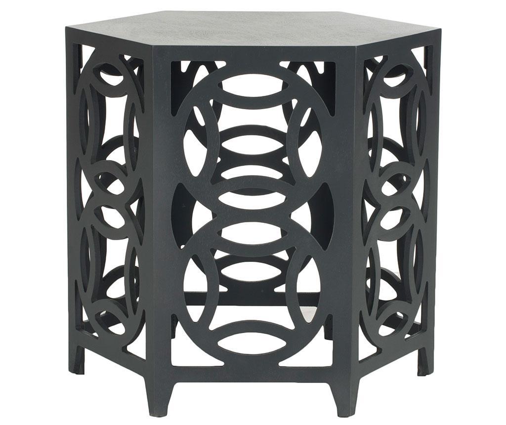 Stolík Geometric Round Shapes Black