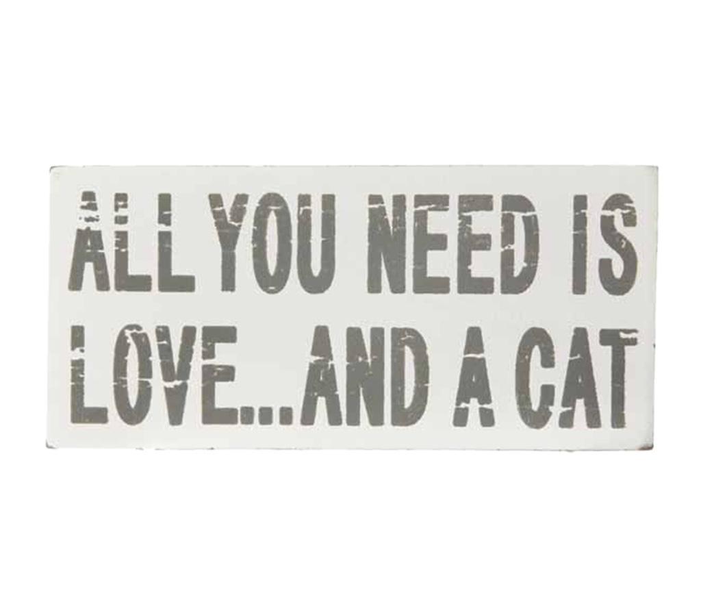 Decoratiune Love & A Cat