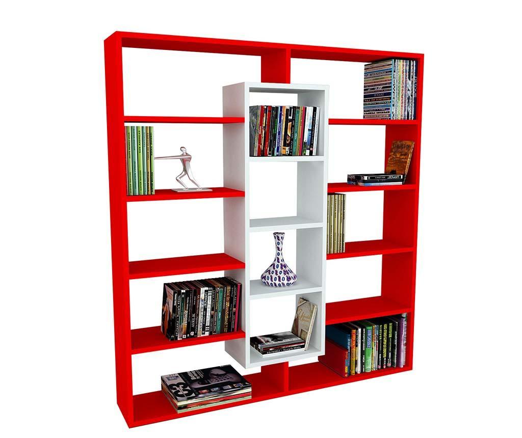 Knjižni regal Layers White Red