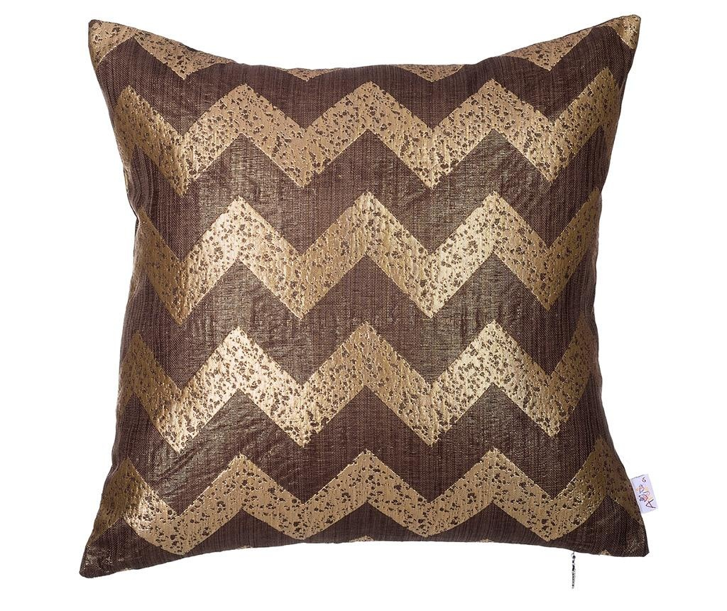 Fata de perna ZigZag Gold and Brown 43x43 cm