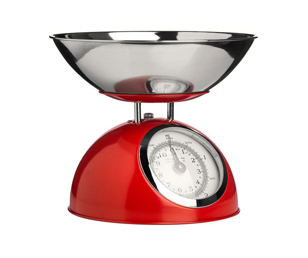 Kuchynská váha s misou Style Red