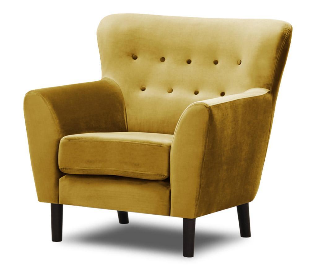 Fotelj Leeds Mustard