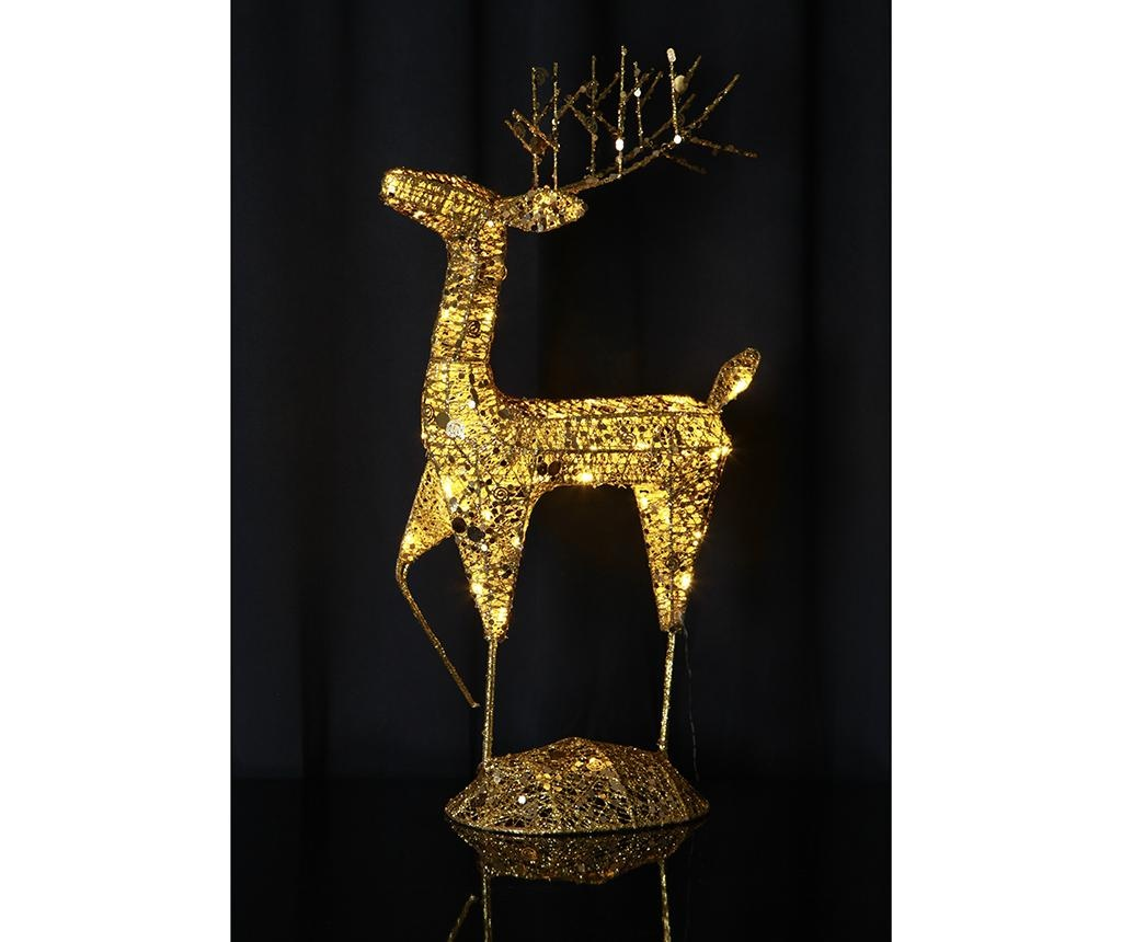Decoratiune luminoasa pentru exterior Reindeer Star Gold