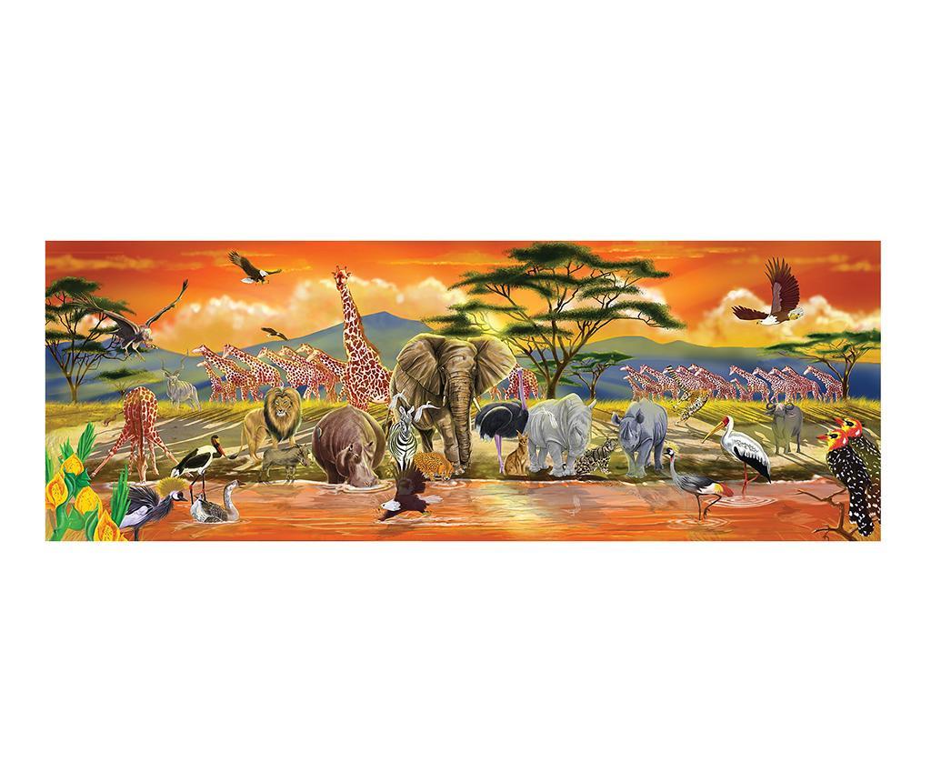 Puzzle de podea 100 piese Safari Sunset