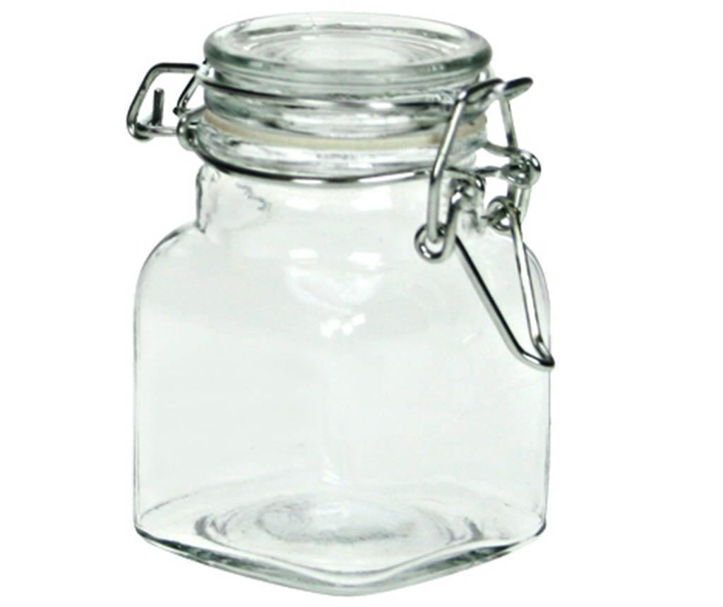 Square Befőttesüveg  hermetikus  fedővel 110 ml