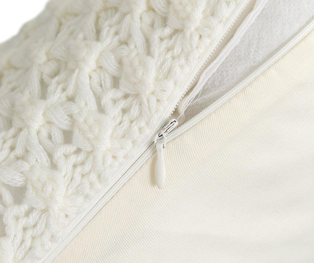 Perna decorativa Denmark White 45x45 cm