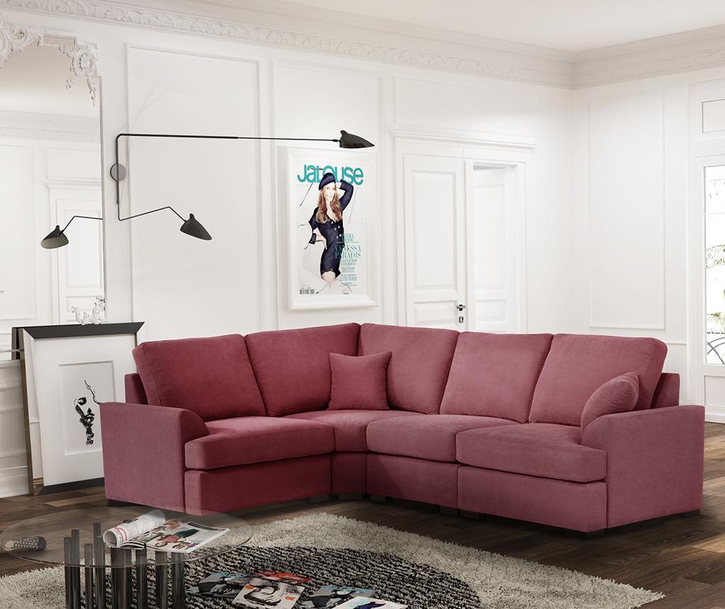 Ляв ъглов диван Irina Peach Rose