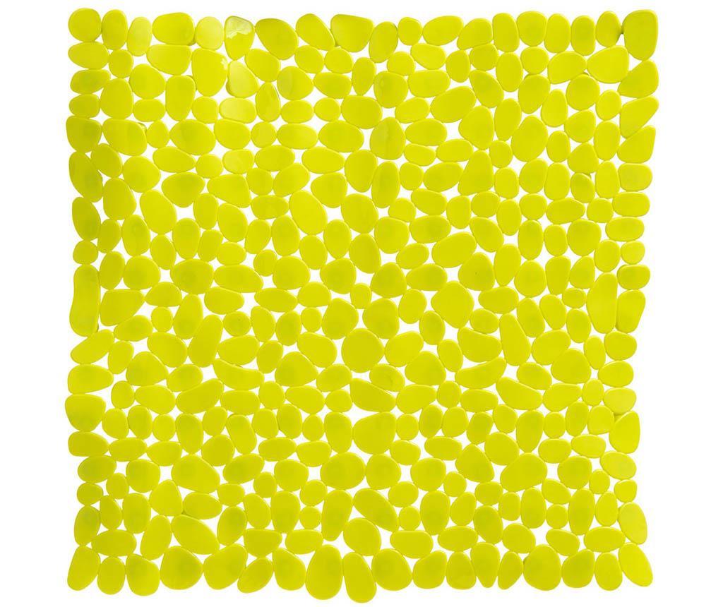 Covoras de cada Pebble Rectangular Yellow 54x54 cm