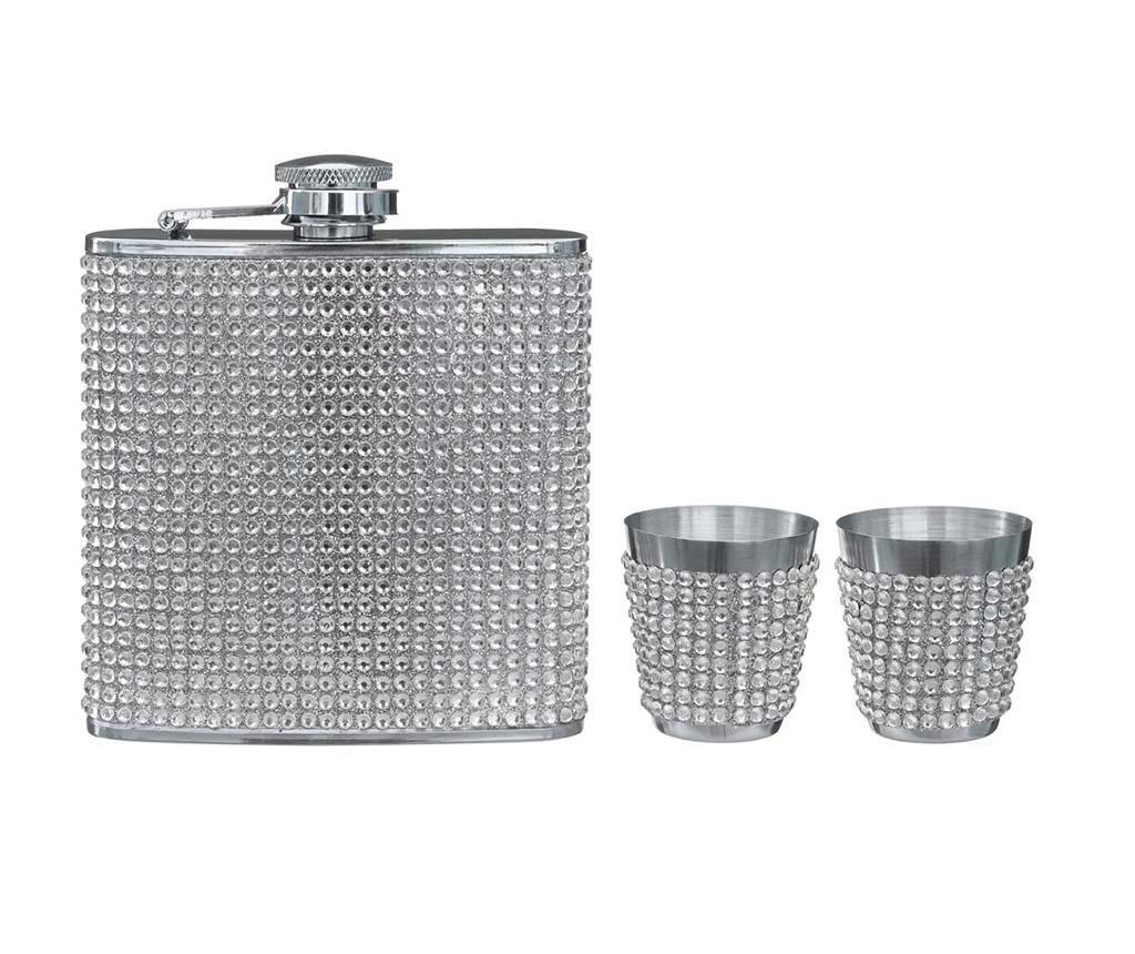 Diamante Flaska és 2 db pohár