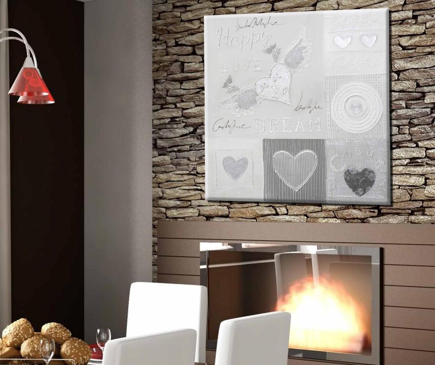 Tablou Little Hearts 60x60 cm